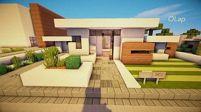 Modern House In World Of Keralis Server OLap Minecraft Project