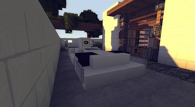 Echo small minimalist house minecraft project for Minimalist house minecraft