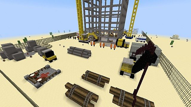 mini pvp map construction site minecraft project. Black Bedroom Furniture Sets. Home Design Ideas