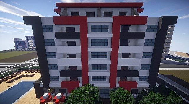 Modern Apartment Building 3 Minecraft Project