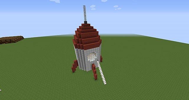 Как сделать ракета в космос майнкрафте