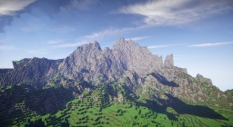 Mountain Custom Terrain Minecraft Map & Project