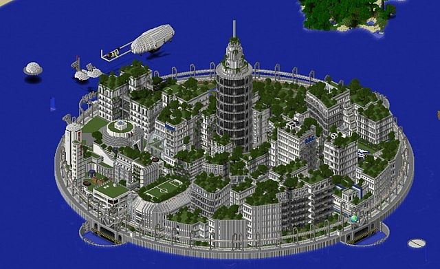 atlantis unfinished retired project futuristic city minecraft project
