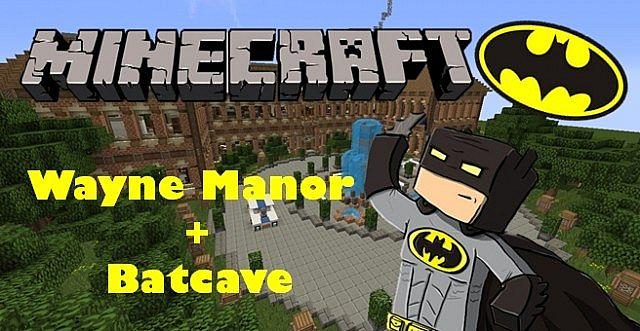 Wayne Manor + Batcave Minecraft Project