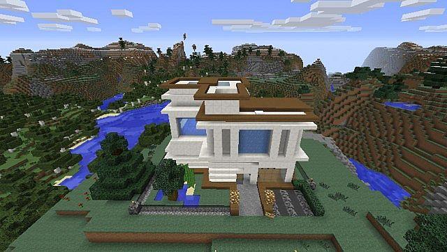 Modern hause casa moderna minimalista minecraft project for Casas modernas minecraft keralis
