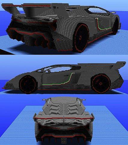 Lamborghini Veneno With 70 000 Tnts Minecraft Project