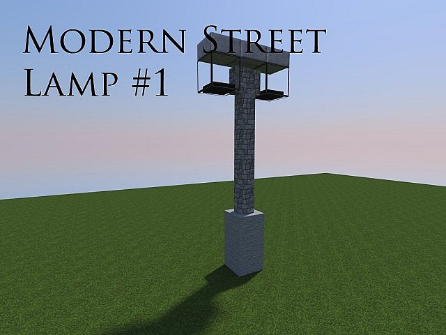 Modern Street Lamp Pack Minecraft Project