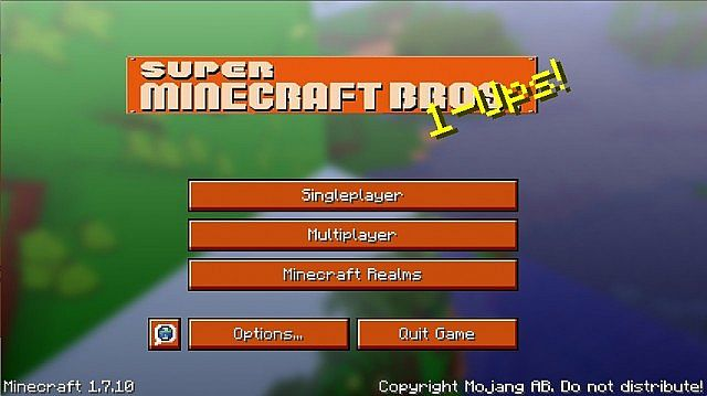The texture packs title screen Updated by me!