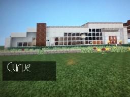 'Curve' Modern Organic House Minecraft Map & Project
