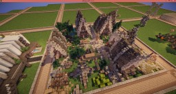 """Wint-Sky"" A Medieval Village Minecraft Map & Project"