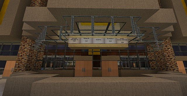 Minecraft Movie Theater Inside