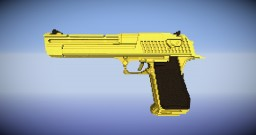 Golden Desert Eagle (Timelapse) Minecraft Map & Project