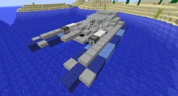 Military Gunboat (Futuristic) Minecraft Map & Project