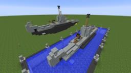 Type XXVIIA Seelöwe midget submarine [FICTIONNAL/TYPE VIIC U-BOAT INSPIRED] Minecraft Map & Project