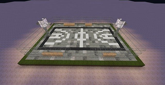 how to build a basketball court in minecraft