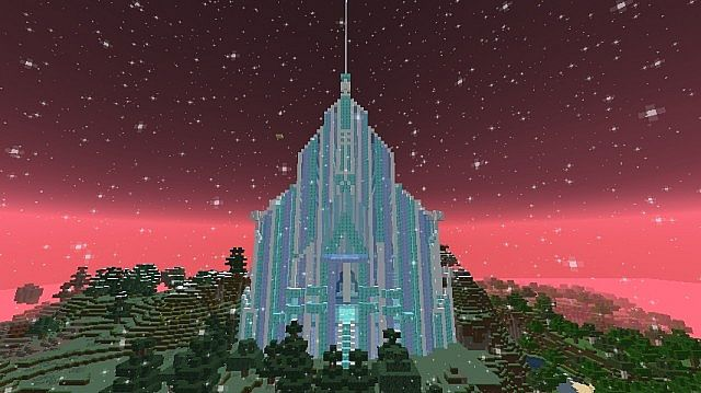 Elsa S Ice Palace Minecraft Project