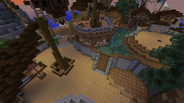 Around the corner from the main spawn area!