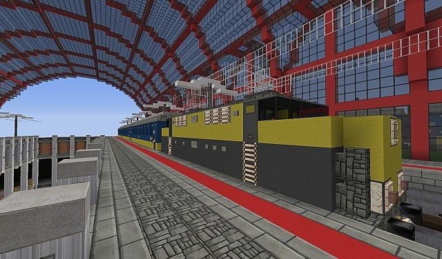 Minecraft Big Train Station Minecraft Project
