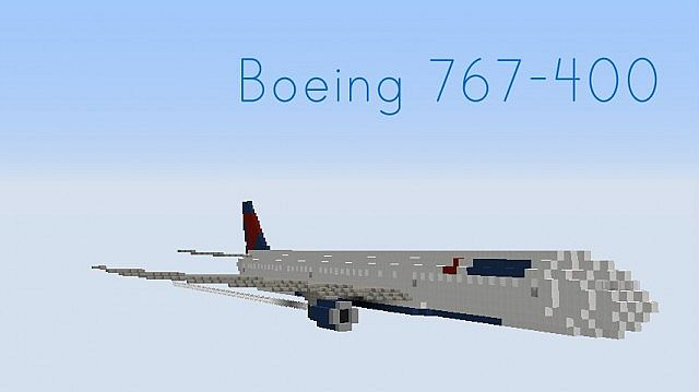 Boeing 767-400 (8 Liveries) Minecraft Project