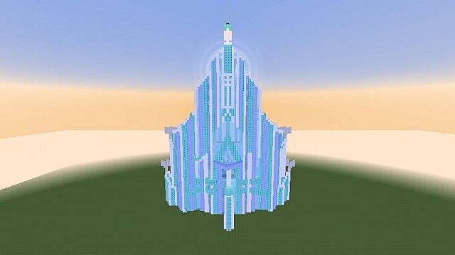 Elsa S Ice Palace Minecraft Project