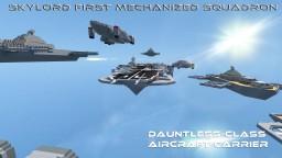 Dauntless-Class Aircraft Carrier Minecraft Map & Project