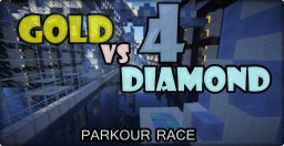 [1.8+] Gold vs Diamond 4! | Super Parkour Race 1vs1 | by LarryGoesMining Minecraft