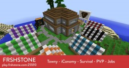 FRSHStone 1.7.9 [Towny - iConomy - Survival - PVP - Jobs] Minecraft Server