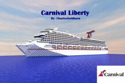 Carnival Liberty 1:1 Scale Cruise Ship [Full Interior] [+Download] Minecraft Map & Project