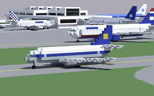 Boeing 737 200 Minecraft Project