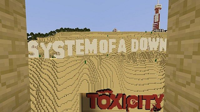 System Of A Down Toxicity Album Cover Minecraft Project