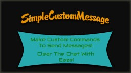 [Bukkit Plugin] [1.7.9] SimpleCustomMessages | Create Custom Commands Minecraft Mod