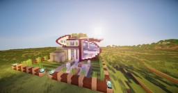 Futuristic Modern House Minecraft Map & Project