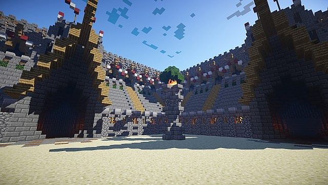 Скачать карту Шикарная PvP арена для Minecraft
