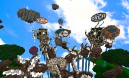 Floating Steampunk Hub Minecraft Map & Project