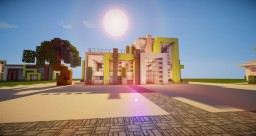Tropical Modern House | Fully Furnished! Minecraft Project