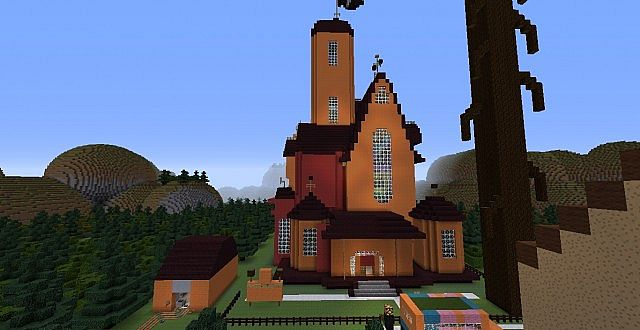 Cartoon Networks famous places Minecraft Project