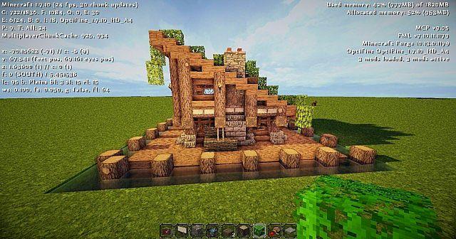 House Design On Minecraft Rumah Joglo Limasan Work