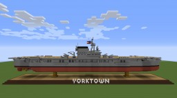 USS Yorktown- Carrier Minecraft Map & Project