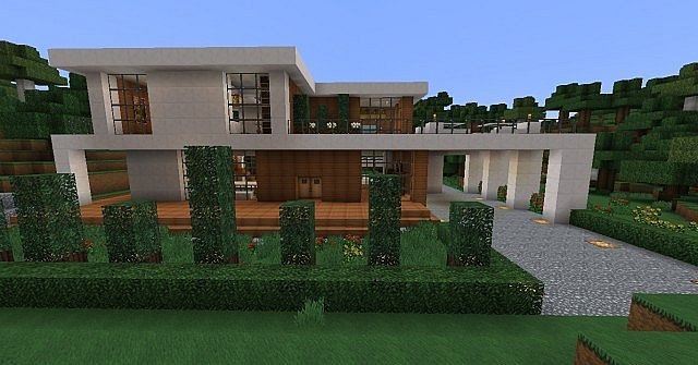 1 modern house 3 minecraft project for Minecraft modern house 9minecraft