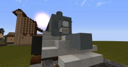 Railroad coaling tower. Plus bonus! Minecraft Project