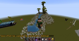 A hill with a water fall. Minecraft Map & Project