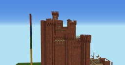 Some Creations (the red keep in construction) Minecraft
