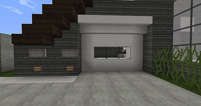 Minecraft Working Garage with cool modern house Minecraft Project