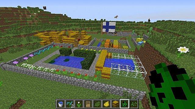 Minecraft Beautiful Garden beautiful garden plus hay house and farm minecraft project