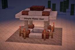 How to build a Simple Waterwell Minecraft