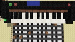 Piano (Powered by Command Blocks, Programmable) Minecraft Map & Project
