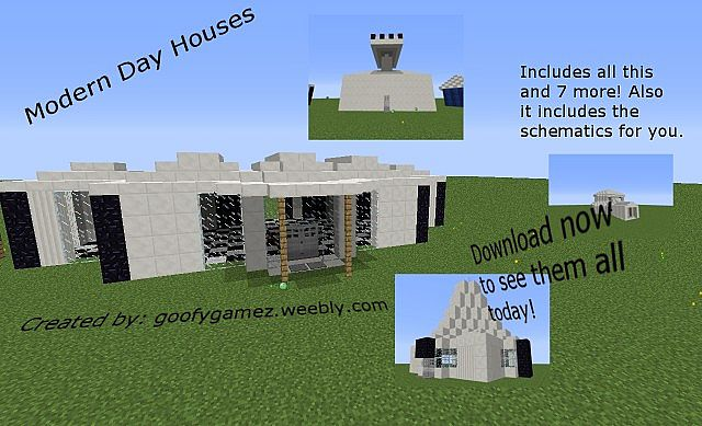 Modern Day Homes Minecraft Map