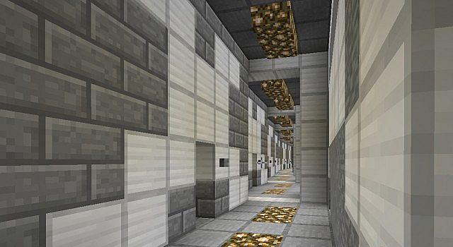 Corridor to housing units
