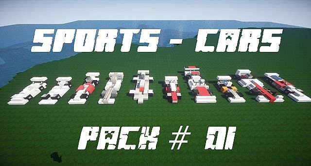 Sports Cars Pack Cars Schematic Minecraft Project