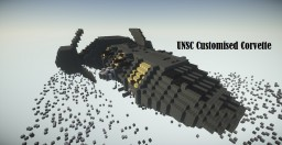 Fan-made UNSC Corvette - halo (To The Stars) Minecraft Map & Project